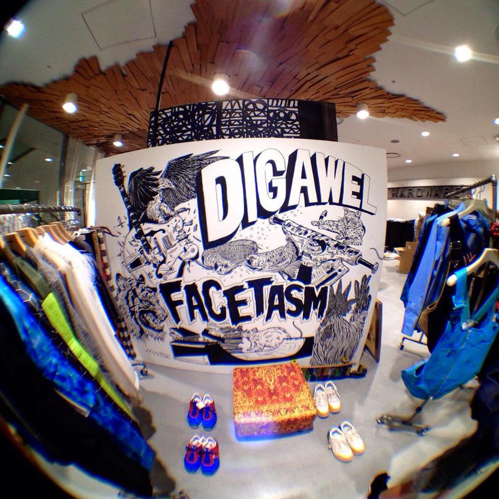 DIGAWEL x FACETASM at Dover Street Market