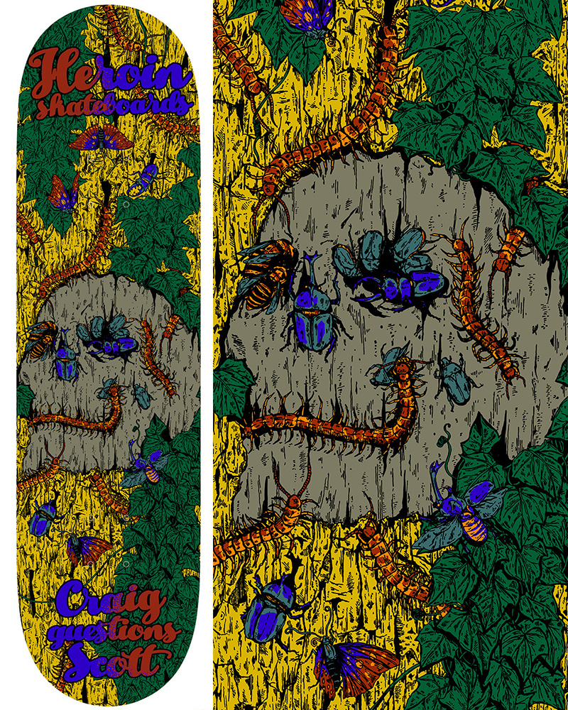 Heroin Skateboards Illusion Series Craig Questions Model