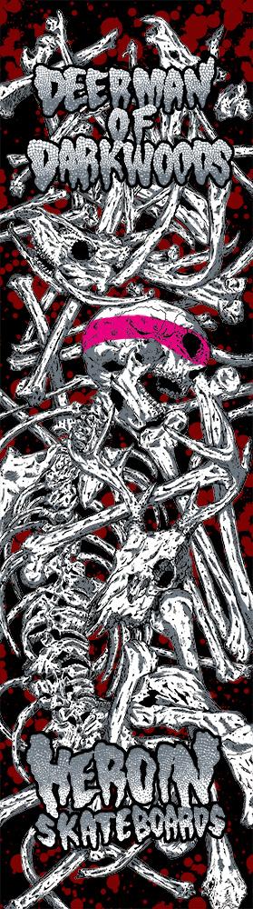 Heroin Skateboards Vicious Nature Series Deer Man Dark Woods Model