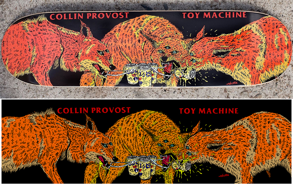 TOY MACHINE Skateborads Collin Provost Model