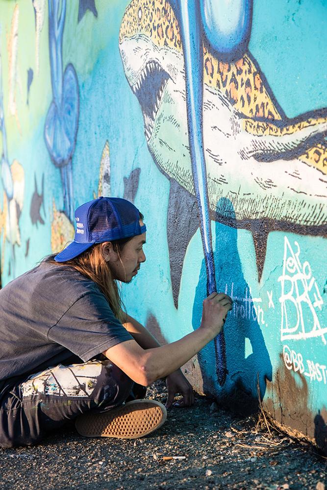 BB Bastidas x Hirotton Mural in Oceanside CA