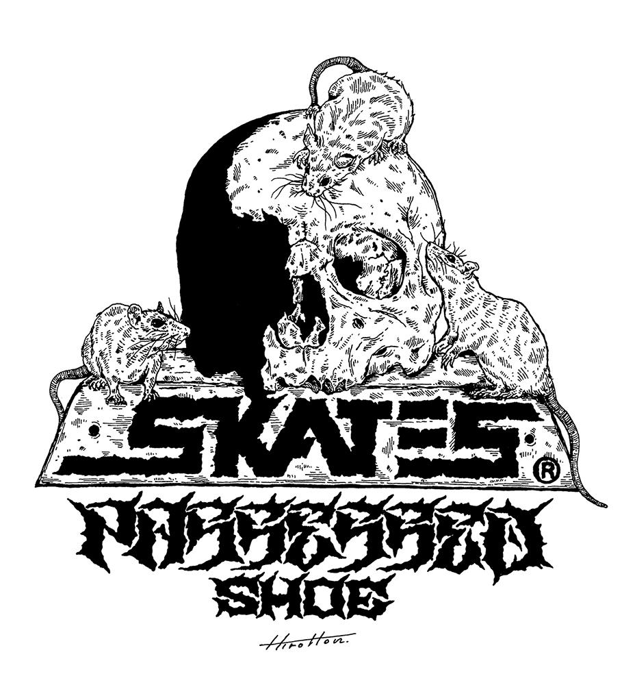 Skull skates x Possessed shoe