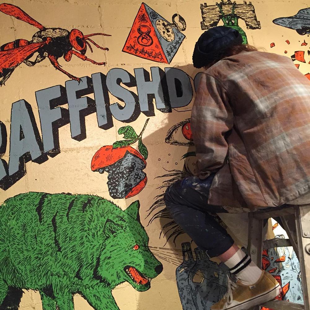 Raffish Dog Mural