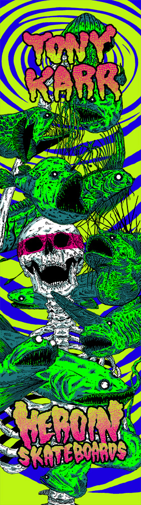 Heroin Skateboards Vicious Nature Series Tony Karr Model