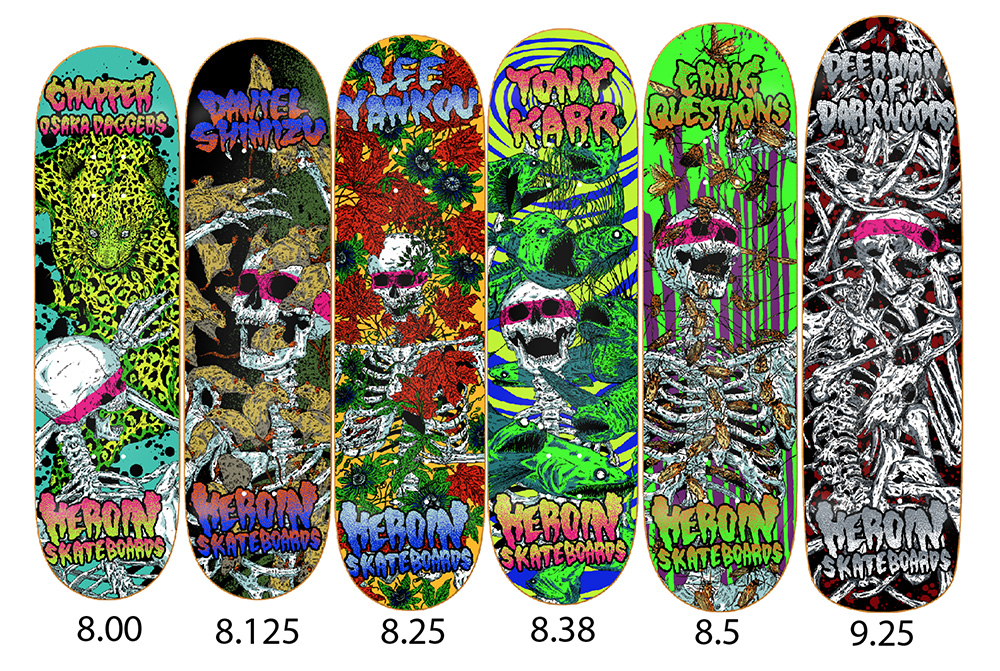 Heroin Skateboards Vicious Nature Series