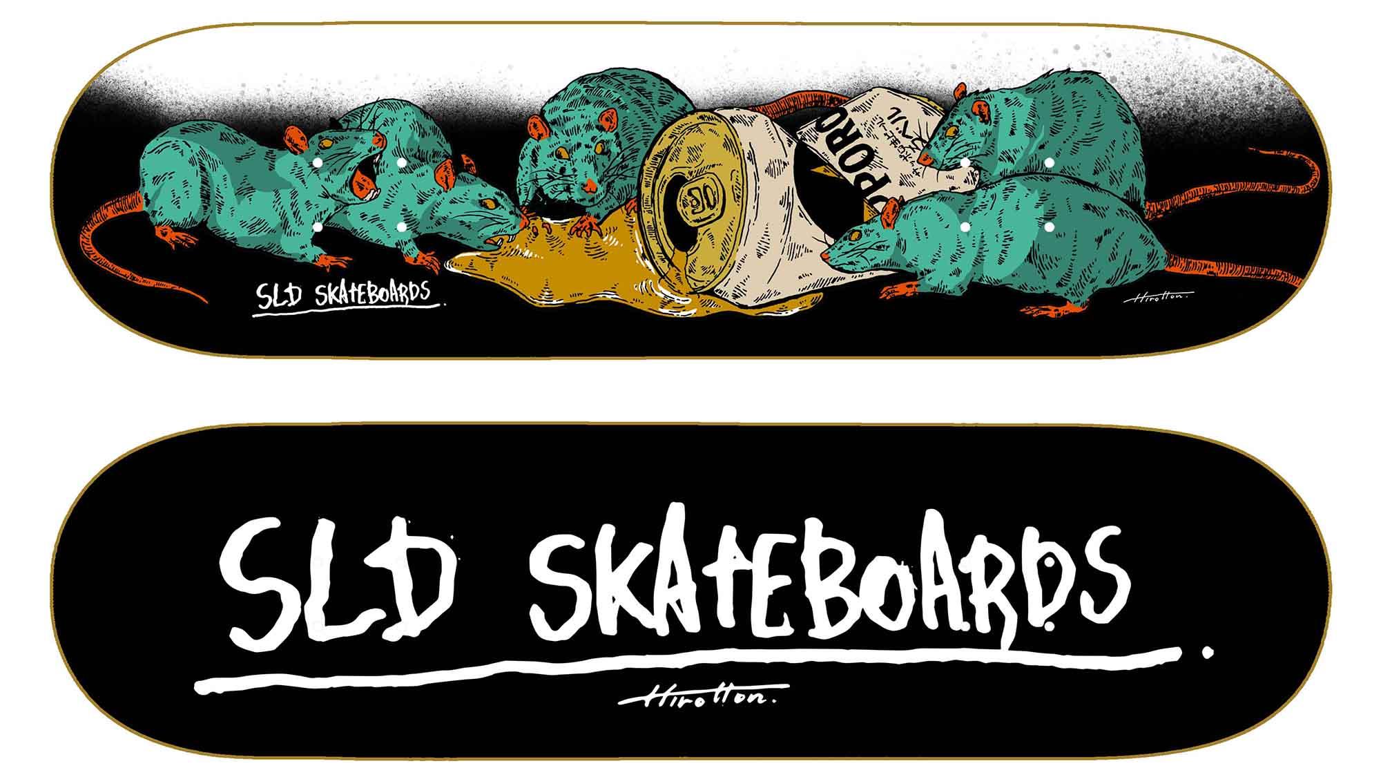 SLD Skateboards BEER RATS